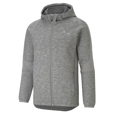 EVOSTRIPE FZ Hoodie Medium Gray Heather