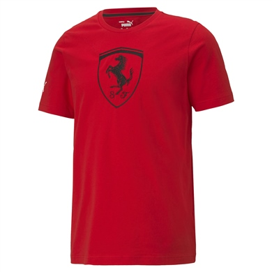 Ferrari Race Big Shield Tee+ Rosso Corsa