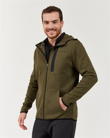 Skechers 2X I-Lock M Printed Zip Detailed Fz  Hoodie Erkek Sweatshirts - S202095-801