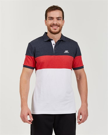 Skechers Polo S M Colorblock Sport Pique Polo T-Shirt Erkek Üst & T-shirt - S201047-410